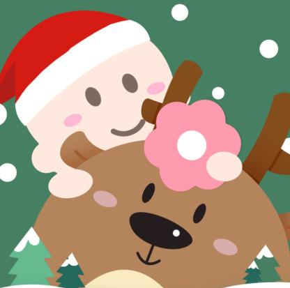 微博头像p圣诞帽小助手
