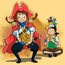 海盗兄妹泡泡