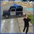 警方吉普车贫民窟停车场
