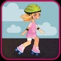 溜冰鞋女孩