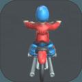 骑着摩托车