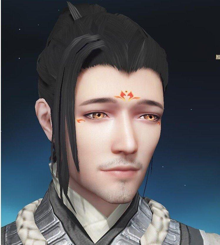 古剑奇谭OL沧桑大叔脸型数据