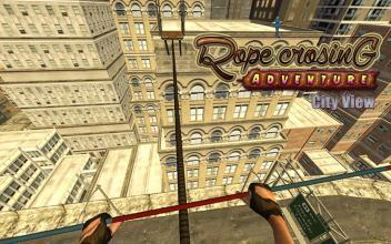 VR城市查看绳穿越