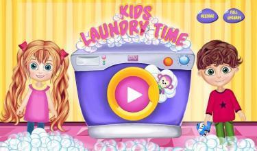 小女孩我家清理:洗衣服游戏