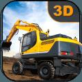 挖掘机模拟器河砂