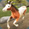野马赛跑草地3D-免费马