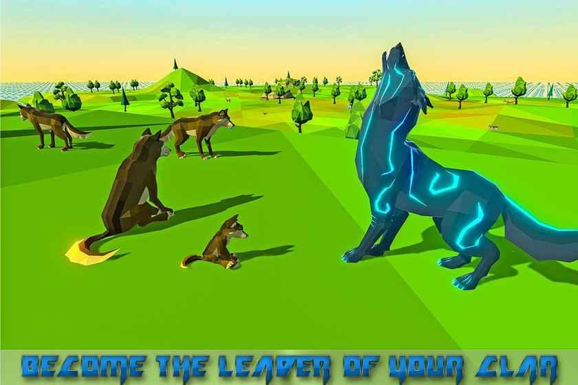 可爱的玄幻狼图片