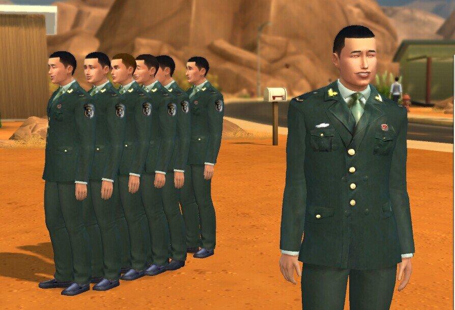 模拟人生4解放军07式陆军常服