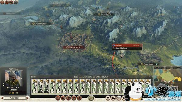 罗马2全面战争如何吸引电脑中埋伏?