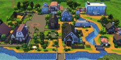 两名大神在《模拟人生4》中还原了星露谷物语鹈鹕镇!
