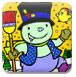 可爱雪人填颜色-儿童小游戏