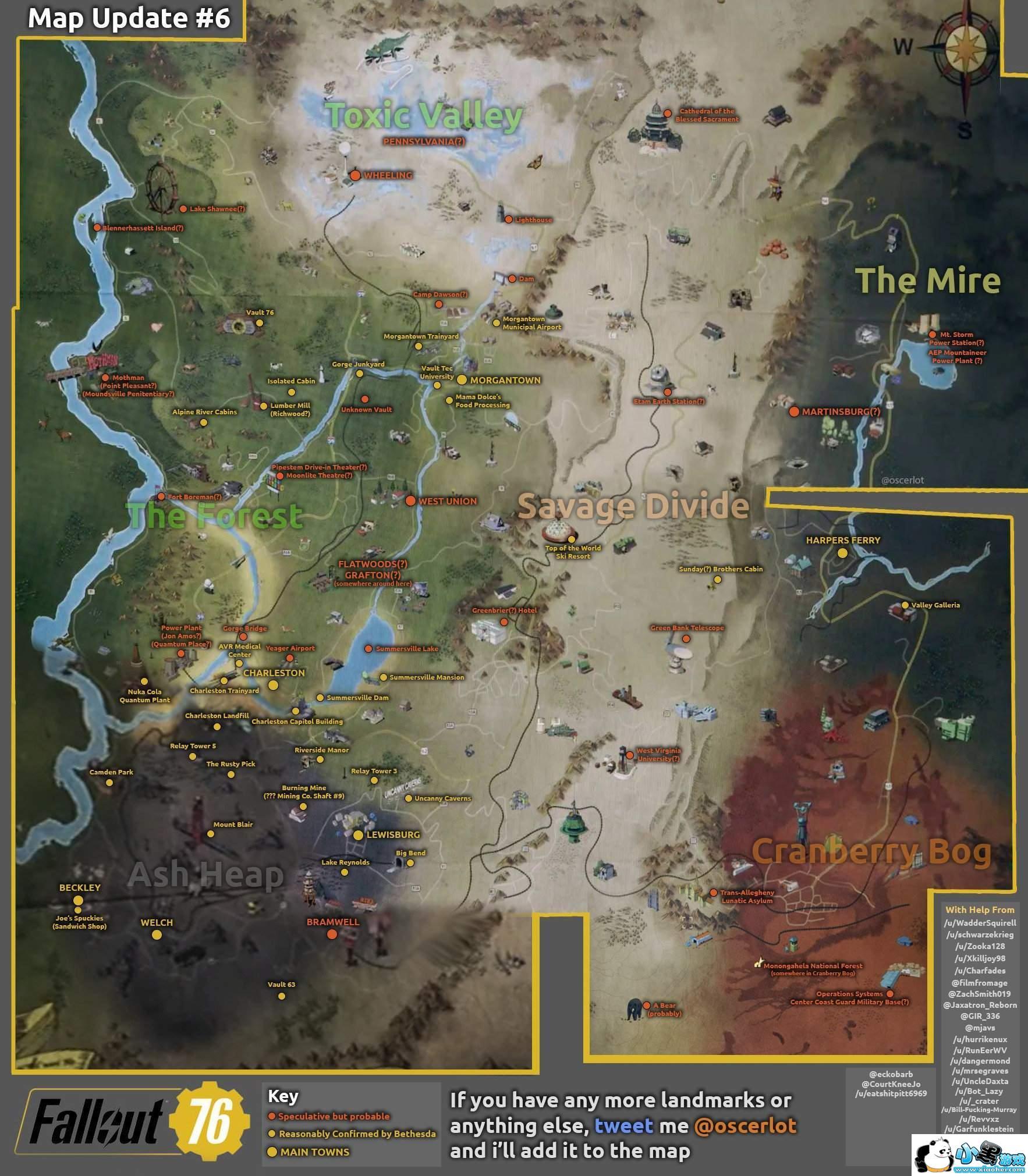 辐射76游戏地图介绍