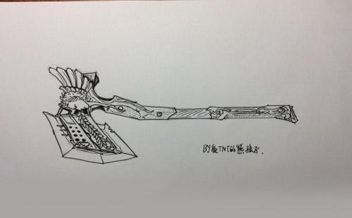 cf手游天使系列武器手绘图