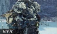 《怪物猎人:世界》冰原dlc大师等级防具-猛牛龙男装视频分享