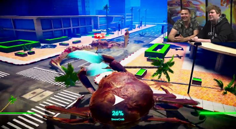 IGN《螃蟹大战》实机操作太魔性 试玩小哥都被逗笑了
