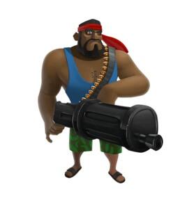 海岛奇兵重机枪手搭配技巧 胖子要怎么用