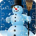 美丽冬季拼图-游戏