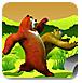 熊大熊二闯狼堡2-冒险小游戏