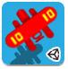 红色双翼小飞机-敏捷