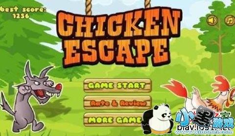 在游戏中玩家需要帮助小呆鸡逃离大灰狼的追捕.
