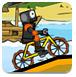 疯狂脚踏车赛-体育小游戏