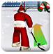 圣诞老人打冰球-体育小游戏