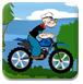 大力水手骑摩托-体育小游戏