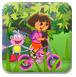 朵拉悠闲骑自行车-体育小游戏