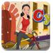 自行车送花女孩-体育小游戏