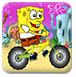 海绵宝宝摩托旅行-体育小游戏