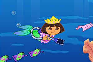 朵拉美人鱼小游戏