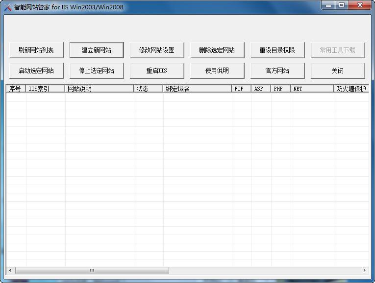 智能网站管家 for IIS Win2003/Win2008