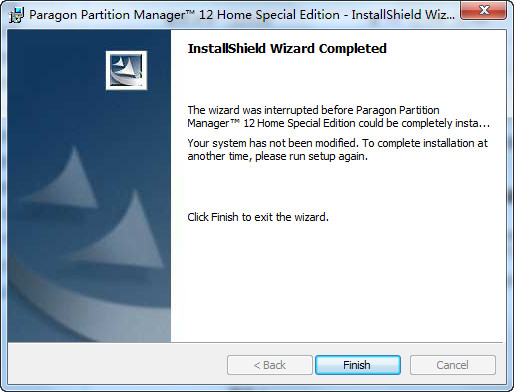 Paragon Partition Manager 12 正式版