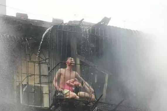 夫妻抱娃以身挡火:广东一民房发生火灾,爸爸抱娃妈妈以身挡火护女丧生
