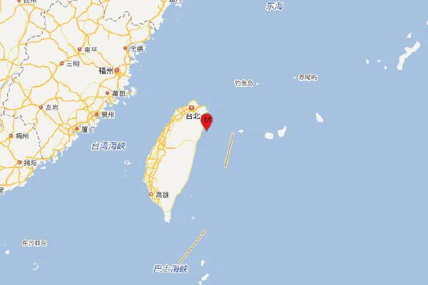 台湾宜兰县海域发生6.4级地震,震源深度30千米