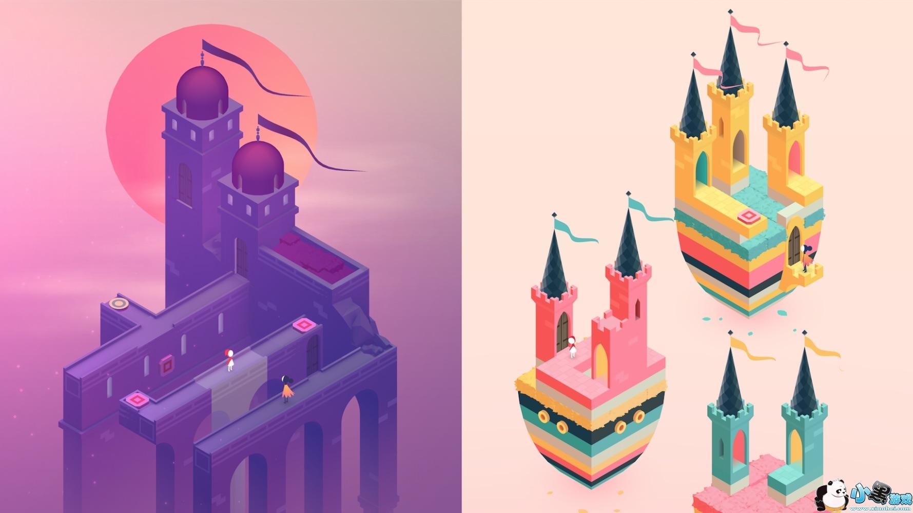 在2018年的GDC大会演讲中,Ustwo游戏设计师Lea Schonfelder提到,研发团队希望保持《纪念碑谷》经典的基础上有更好的选择。视觉上,他们希望就想原作那样,游戏里每个时刻都能当作艺术品,同时同时不让人们觉得这是2014年的翻版。单个关卡设计上,不可能图形、埃舍尔建筑几何体是《纪念碑谷》世界的核心,团队希望续作里也可以继续探索这些解谜。   不一样的剧情展示:用玩法讲故事   虽然原作本身就讲述了一个非常受欢迎的故事,Ustwo Games还是希望在续作中可以讲述一个更加有深度的故事。